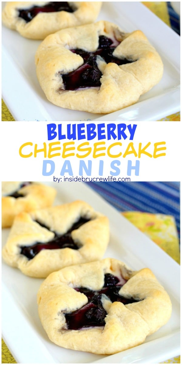 This easy blueberry cheesecake danish is great for breakfast or afternoon snacks.