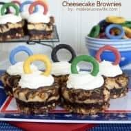 Caramel Pretzel Cheesecake Brownies