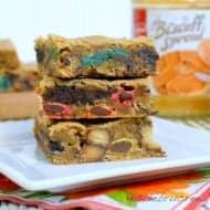 Monster Cookie Blonde Brownies