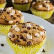 Easy Banana S'mores Muffins Recipe