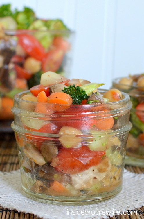 Veggie Salad - easy salad to get your daily dose of veggies with