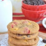 M&M Pumpkin Pudding Cookies