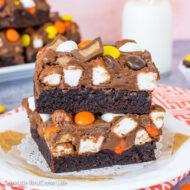 Reese's Fluffernutter Fudge Brownies