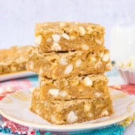 Tropical Blonde Brownies
