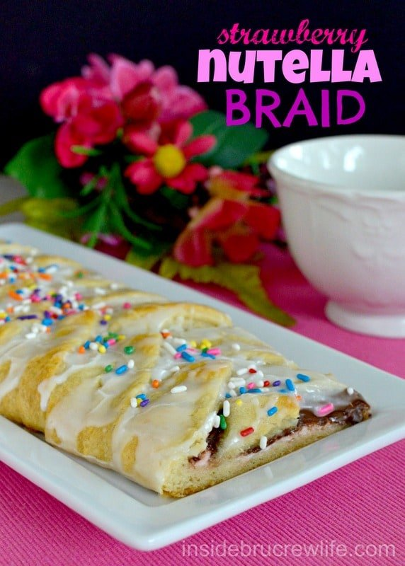 Strawberry Nutella Braid