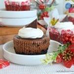 Cherry Jubilee Chocolate Cheesecakes
