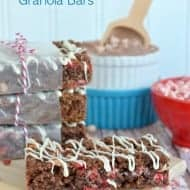 Peppermint Hot Chocolate Granola Bars