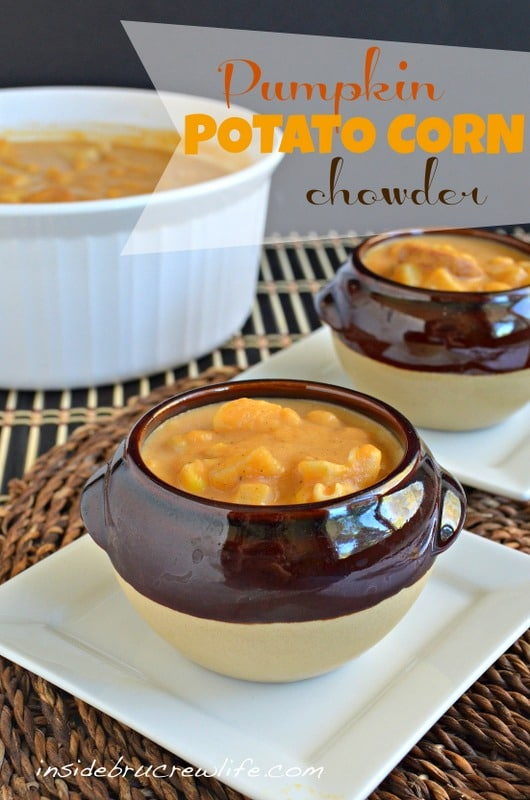 Pumpkin Potato Corn Chowder