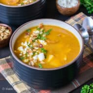 Easy Pumpkin Potato Corn Chowder Recipe