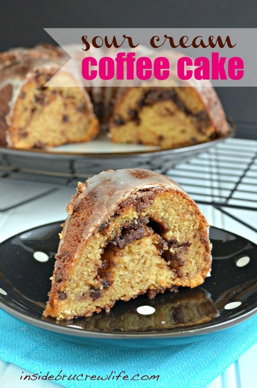 Sour Cream Coffee Cake - coffee cake with a cinnamon chocolate chip ...