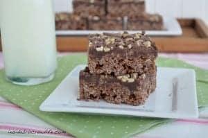 Brownie Mint Rice Krispie Treats