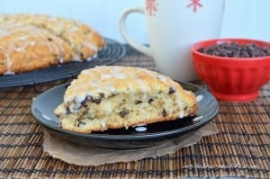 Eggnog Scones - soft flakey scones made with eggnog and chocolate chips #holiday #eggnog http://www.insidebrucrewlife.com