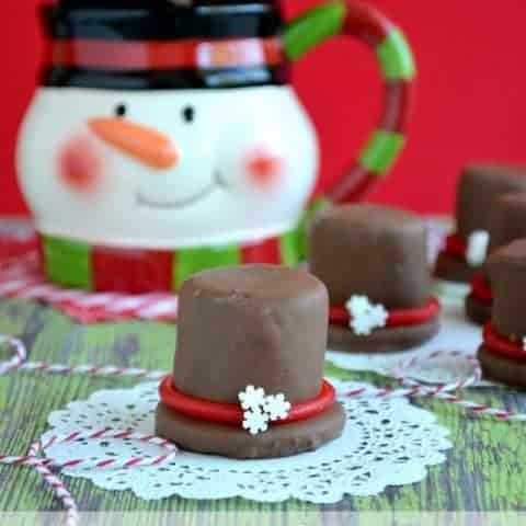 chocolate covered marshmallow hats