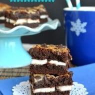 Peppermint Patty Gooey Cake Bars