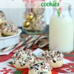 Peppermint Snowball Cookies