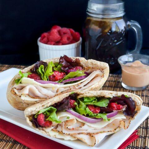 Raspberry Chipotle Turkey Pita