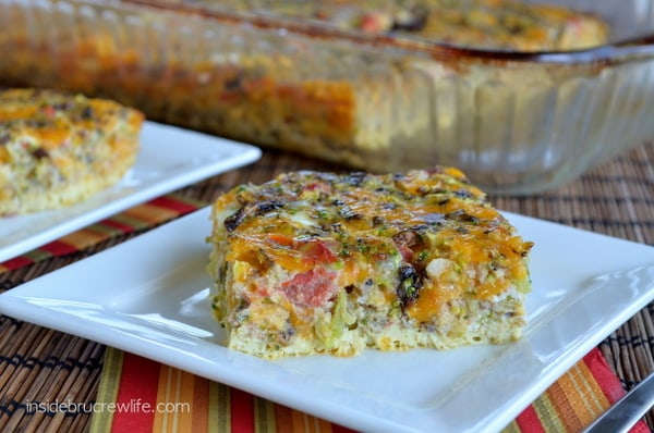 Broccoli and Cheese Egg Casserole, low fat breakfast, healthy meal choice, egg casserole