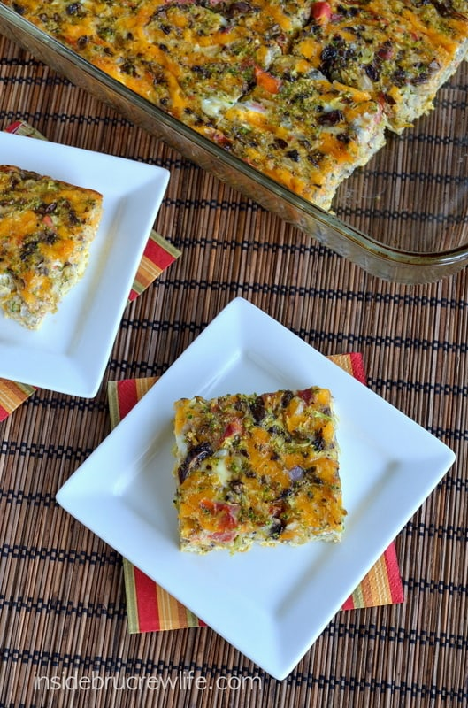 Broccoli and Cheese Egg Casserole