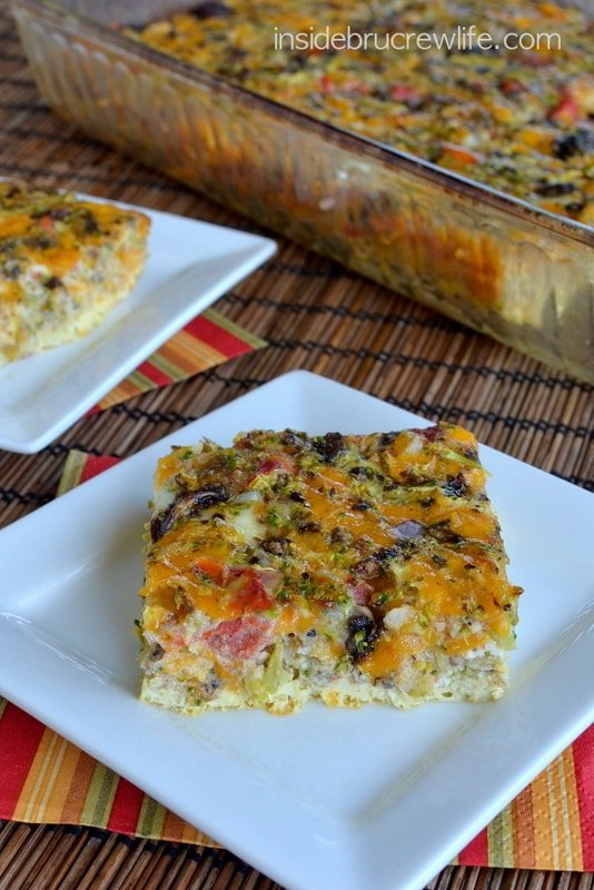 Broccoli and Cheese Egg Casserole, healthy meal choice, egg casserole, low fat meals
