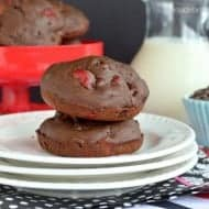 Chocolate Cherry Muffin Tops