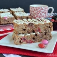 Raspberry Hot Chocolate Granola Bars