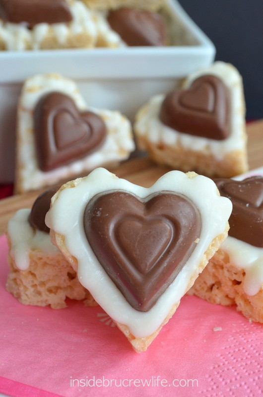 White Chocolate Reese's Krispie Hearts