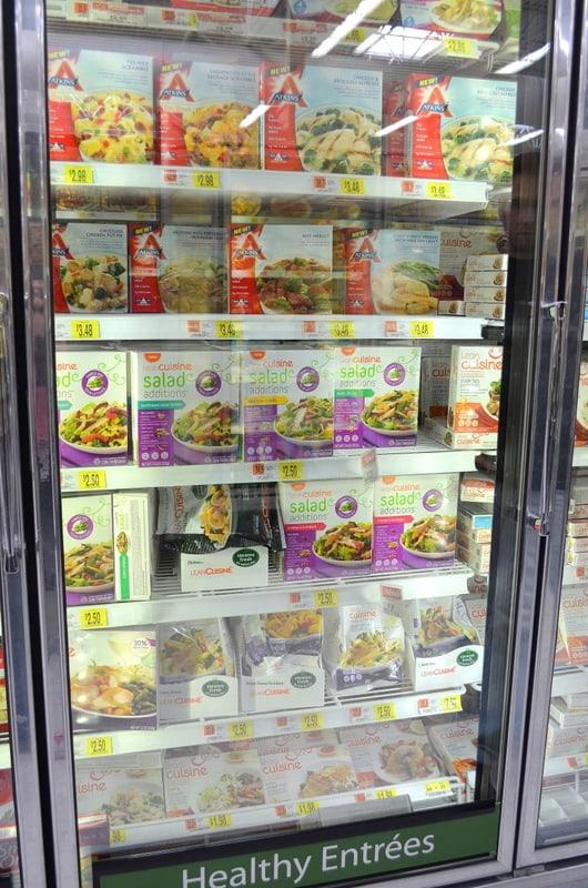 fresh, frozen aisle, healthy lunch