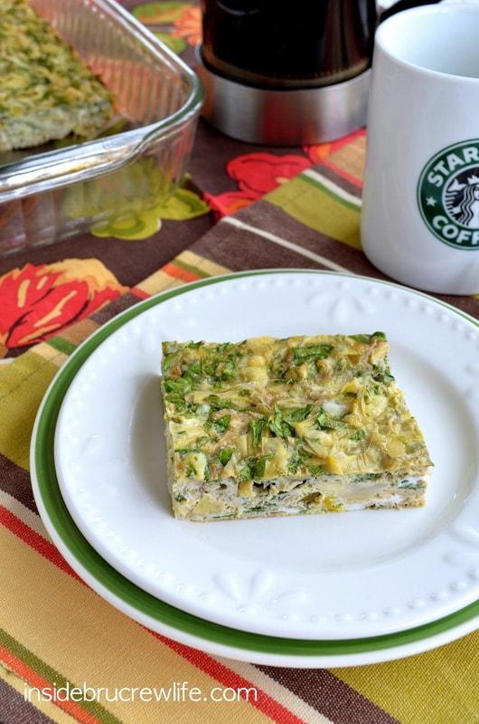 Spinach Artichoke Egg Bake