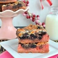 Strawberry Fudge Magic Bars