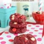 Triple Chip Red Velvet Cookies