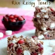 Cherry Marshmallow Rice Krispy Treats
