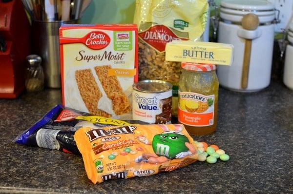 Carrot Cake Magic Bar ingredients