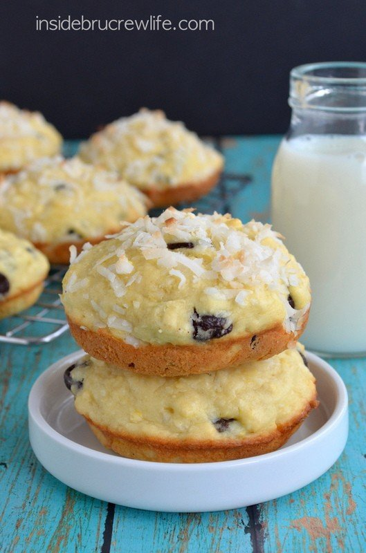 Coconut Chocolate Chunk Muffin Tops