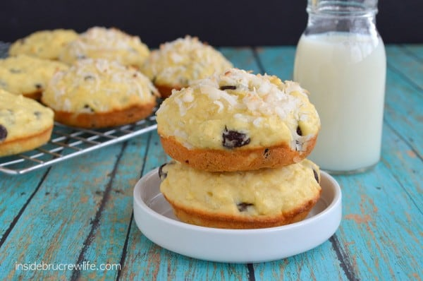 Coconut Chocolate Chunk Muffin Tops, Jello pudding mix