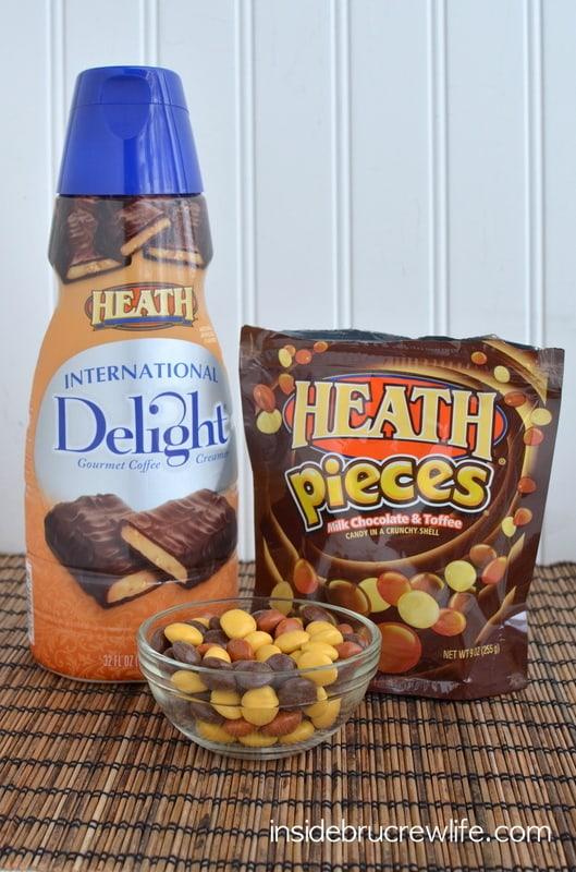 Heath creamer and candy
