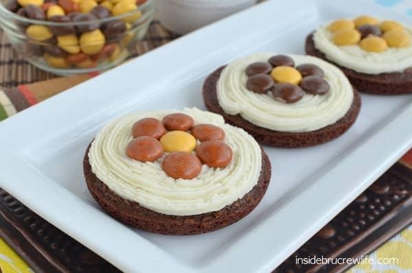 Heath_Brownie_Pizzas, International Delights coffee creamer, Heath pieces