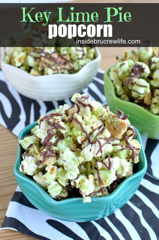 This tropical twist to chocolate covered popcorn is a fun treat to enjoy any night.