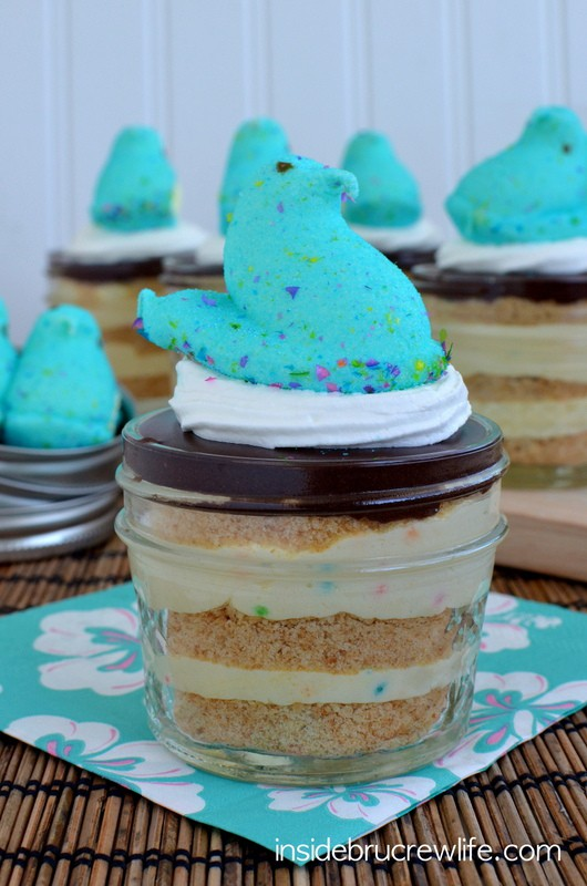 Party Peeps Eclair Cake Cups