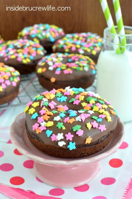 Triple Chocolate Donuts, baked donuts