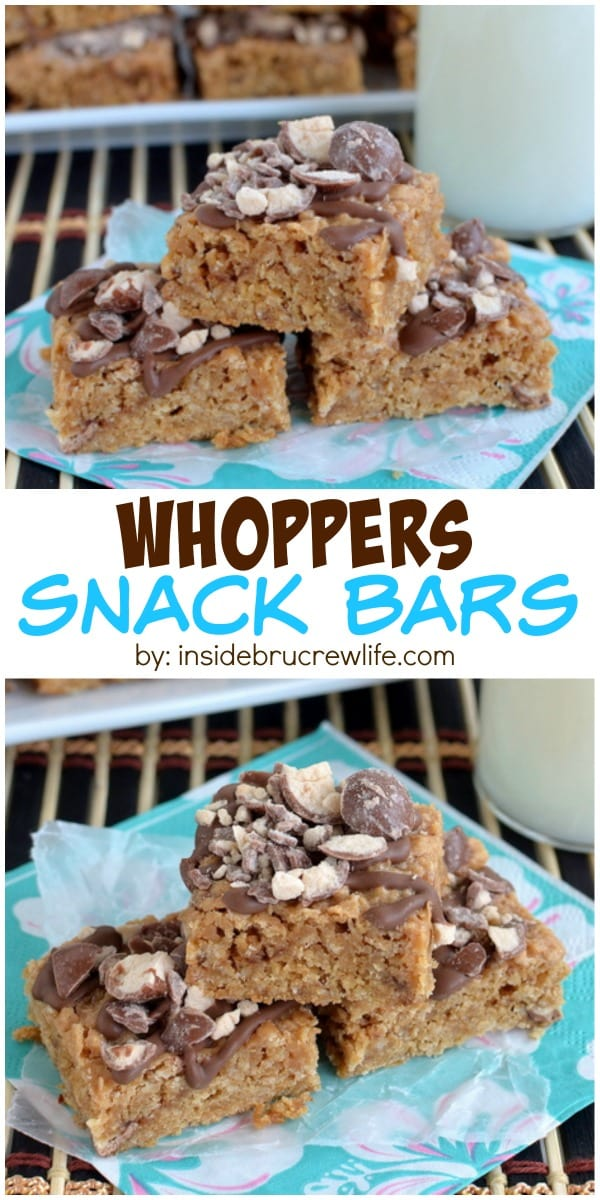 These homemade granola bars are a great way to use leftover candy!  Whoppers are amazing!