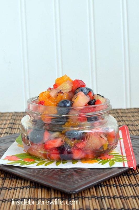 fruit salad in jar