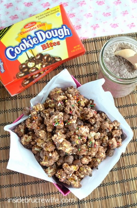 Brownie Batter Cookie Dough Popcorn