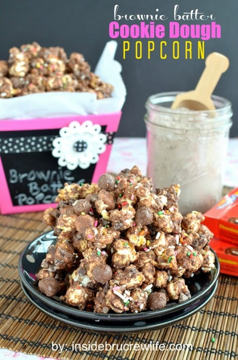 Brownie Batter Cookie Dough Popcorn, sweet popcorn
