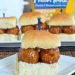 Cheddar Jack & Bacon Meatball Sliders