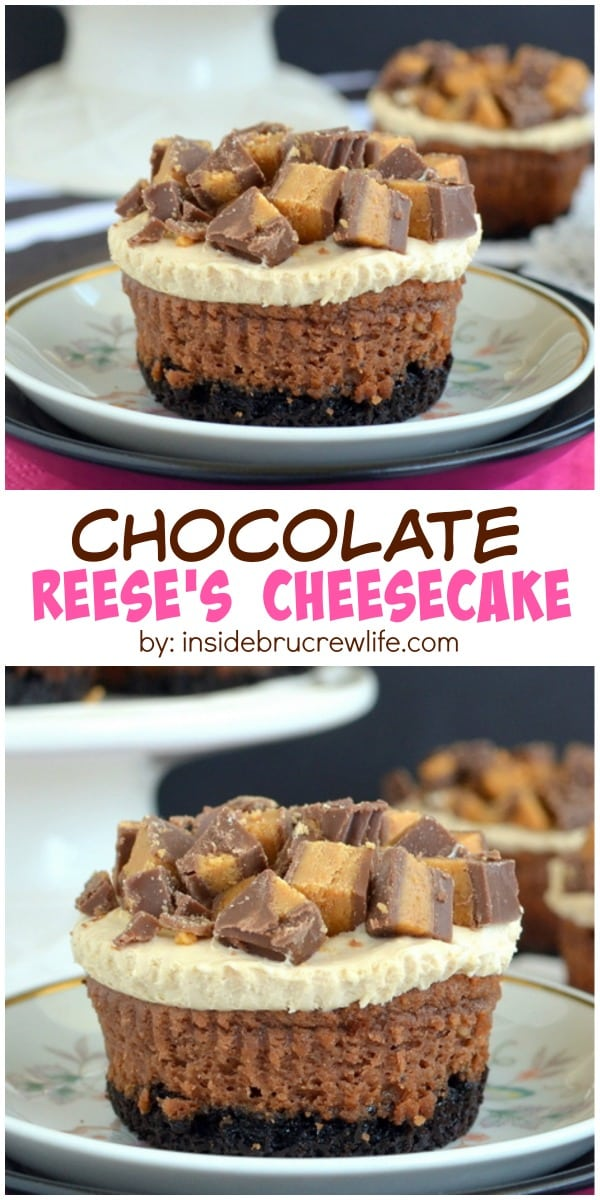 cheesecake have a peanut butter mousse and Reese's peanut butter ...