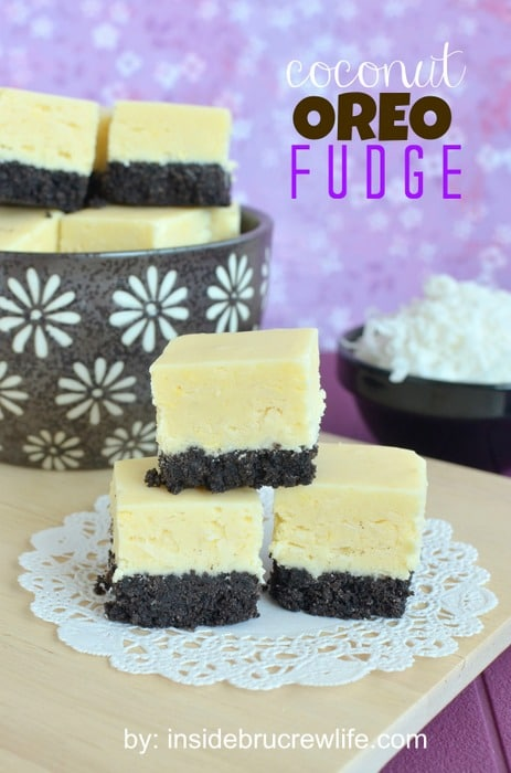 Coconut Oreo Fudge, Oreo cookies, Jello instant coconut cream pudding