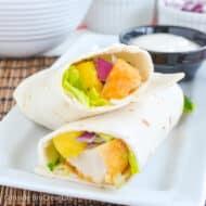 Easy Mango Chicken Wraps