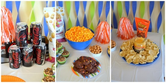 bball party food collage