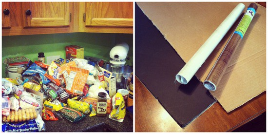 cupboards and contact paper