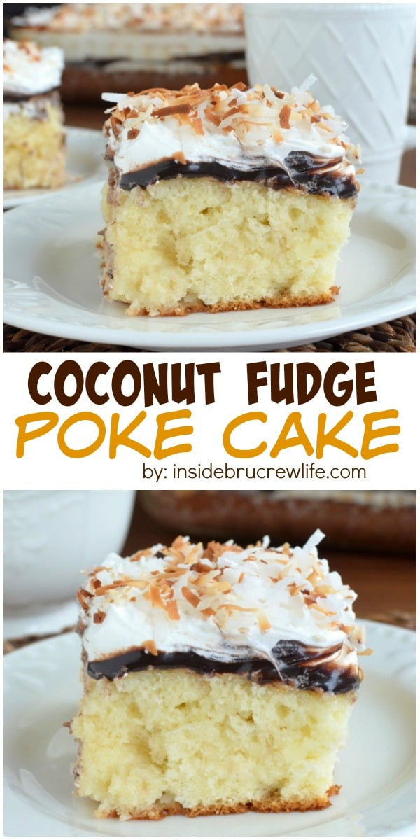 Hot fudge and three times the coconut makes this cake disappear every ...